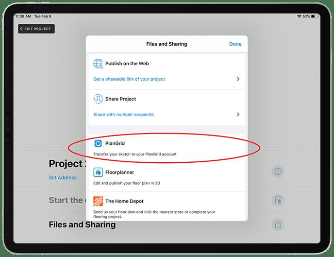 PlanGrid_Export_Screenshot